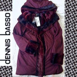 Designer Fur REVERSIBLE Toggle Coat - NEW